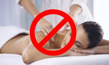 Kada se ne primenjuje masaža