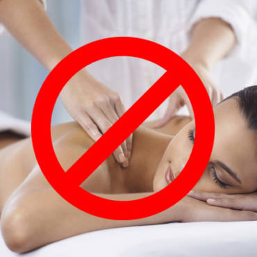 When a massage is a bad idea?